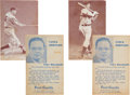 Baseball Cards:Lots, 1939-47 Salutation Exhibits DiMaggio & Greenberg Pair (2) WithRare Post Gazette Backs! ...