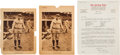 Baseball Cards:Lots, 1927 M101-7 Sporting News Babe Ruth Supplements Back Type Pair PlusLetter. ...