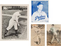 Baseball Cards:Lots, Rare 1940's Pacific Coast League Baseball Dairy/Ice Cream Group (4)With Rare War-Time Issue. ...