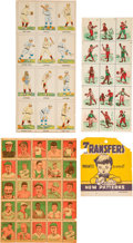Baseball Cards:Sets, 1910's - 1920's Baseball Stamps/Transfers and Strip Card Uncut Panels Trio (3). ...