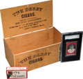 """Baseball Cards:Singles (Pre-1930), 1913 Derby Cigars Rube Marquard SGC Authentic Plus """"Little Cigars""""Pack and Cigar Box. ..."""