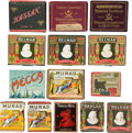 Baseball Cards:Unopened Packs/Display Boxes, Early 20th Century Helmar, Hassan, Turkey Red, Mecca, MuradCigarettes Plus Others Tobacco Box Collection (14) - Some WithCig...