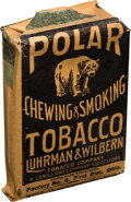 "Baseball Cards:Unopened Packs/Display Boxes, 1910 ""Polar Bear"" Chewing & Smoking Paper Tobacco Pouch. ..."