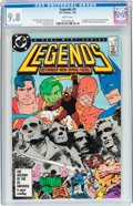 Modern Age (1980-Present):Superhero, Legends #3 (DC, 1987) CGC NM/MT 9.8 White pages....