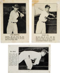 Baseball Cards:Lots, Extremely Rare 1941 Montreal Royals Team Issue Trio (3). ...