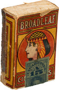 "Baseball Cards:Unopened Packs/Display Boxes, Extremely Rare Circa 1910's ""Broadleaf Cigarettes"" Pack. ..."
