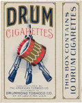 """Baseball Cards:Unopened Packs/Display Boxes, 1910 Drummond Tobacco """"Drum Cigarettes"""" Pack - Only a Few Known. ..."""