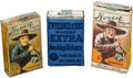 Baseball Cards:Unopened Packs/Display Boxes, 1910's Miner's Extra and Honest Long Cut (T227) Tobacco Packs Trio(3). ...