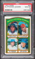 Baseball Cards:Singles (1970-Now), 1972 Topps NL Pitching Leaders #93 PSA Gem Mint 10 - Pop Three....