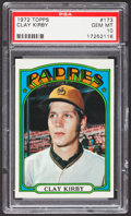 Baseball Cards:Singles (1970-Now), 1972 Topps Clay Kirby #173 PSA Gem Mint 10 - Pop Four. ...