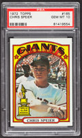 Baseball Cards:Singles (1970-Now), 1972 Topps Chris Speier #165 PSA Gem Mint 10....