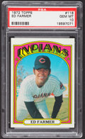 Baseball Cards:Singles (1970-Now), 1972 Topps Ed Farmer #116 PSA Gem Mint 10....