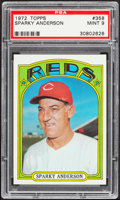 Baseball Cards:Singles (1970-Now), 1972 Topps Sparky Anderson #358 PSA Mint 9....