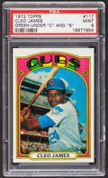 Baseball Cards:Singles (1970-Now), 1972 Topps Cleo James, Green #117 PSA Mint 9....
