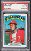 Baseball Cards:Singles (1970-Now), 1972 Topps Bob Gibson #130 PSA Mint 9....