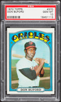 Baseball Cards:Singles (1970-Now), 1972 Topps Don Buford #370 PSA Gem Mint 10....