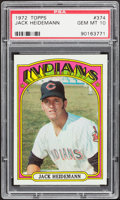 Baseball Cards:Singles (1970-Now), 1972 Topps Jack Heidemann #374 PSA Gem Mint 10....