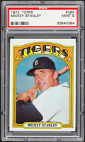 Baseball Cards:Singles (1970-Now), 1972 Topps Mickey Stanley #385 PSA Mint 9....