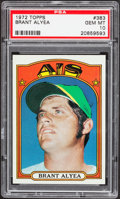 Baseball Cards:Singles (1970-Now), 1972 Topps Brant Alyea #383 PSA Gem Mint 10 - Pop Three....