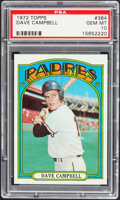 Baseball Cards:Singles (1970-Now), 1972 Topps Dave Campbell #384 PSA Gem Mint 10....