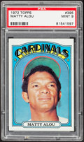 Baseball Cards:Singles (1970-Now), 1972 Topps Matty Alou #395 PSA Mint 9....