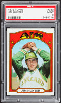 Baseball Cards:Singles (1970-Now), 1972 Topps Jim Hunter #330 PSA Mint 9....