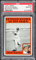 Baseball Cards:Singles (1970-Now), 1972 Topps Willie Stargell, Boyhood Photo #343 PSA Gem Mint 10....