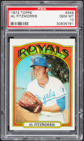 Baseball Cards:Singles (1970-Now), 1972 Topps Al Fitzmorris #349 PSA Gem Mint 10....