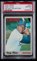 Baseball Cards:Singles (1970-Now), 1970 Topps Tony Oliva #510 PSA Gem Mint 10 - Pop Four....