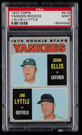 Baseball Cards:Singles (1970-Now), 1970 Topps Yankees Rookies #516 PSA Mint 9....
