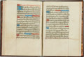 Books:Religion & Theology, [Illuminated Manuscript]. [Hymns/Prayers]. Bound Collection ofFourteenth and Fifteenth-Century Manuscript Prayers and Hymns. ...