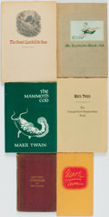 Books:Americana & American History, [Mark Twain]. Group of Six Books. Various publishers and dates. ...(Total: 6 Items)