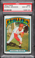 Baseball Cards:Singles (1970-Now), 1972 Topps Darrell Brandon #283 PSA Gem Mint 10....