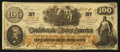 Confederate Notes:1862 Issues, CT41/315 $100 1862 Counterfeit.. ...