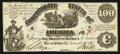 Confederate Notes:1861 Issues, CT13/57A $100 1861 Counterfeit.. ...