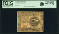 Colonial Notes:Continental Congress Issues, Continental Currency May 9, 1776 $4 Fr. CC-34. PCGS Superb Gem New68PPQ.. ...