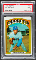 Baseball Cards:Singles (1970-Now), 1972 Topps Jim Brewer #151 PSA Mint 9....