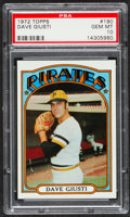 Baseball Cards:Singles (1970-Now), 1972 Topps Dave Giusti #190 PSA Gem Mint 10 - Pop Three....