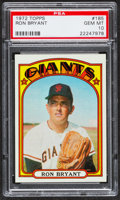 Baseball Cards:Singles (1970-Now), 1972 Topps Ron Bryant #185 PSA Gem Mint 10 - Pop Three. ...