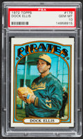 Baseball Cards:Singles (1970-Now), 1972 Topps Dock Ellis #179 PSA Gem Mint 10 - Pop Four. ...