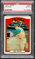 Baseball Cards:Singles (1970-Now), 1972 Topps Joe Rudi #209 PSA Mint 9....