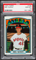 Baseball Cards:Singles (1970-Now), 1972 Topps Mel Queen #196 PSA Gem Mint 10....