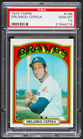 Baseball Cards:Singles (1970-Now), 1972 Topps Orlando Cepeda #195 PSA Gem Mint 10 - Pop Three....