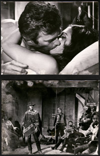 """For a Few Dollars More by Foto Vaselli (PEA, 1965). Photos (6) (7"""" X 9.5"""") and (17) (3.5"""" X 5"""")..."""