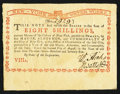 Colonial Notes:New York, New York August 2, 1775 (Water Works) 8s Extremely Fine.. ...