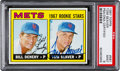Baseball Cards:Singles (1960-1969), Signed 1967 Topps Tom Seaver - Mets Rookie Stars #581 PSA Mint 9 -Pop-One-of-One! ...