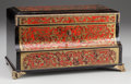 Decorative Arts, French, A Napoleon III Boulle Jewelery Box, circa 1870. 6-1/2 inches high x12 inches wide x 6-1/4 inches deep (16.5 x 30.5 x 15.9 c...