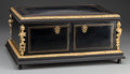 Decorative Arts, French:Other , A Napoleon III Lacquered Wood Vanity Box with Gilt Bronze Mounts,circa 1870. 7-1/2 inches high x 16-1/2 inches wide x 11-1/...