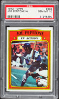 Baseball Cards:Singles (1970-Now), 1972 Topps Joe Pepitone IA #304 PSA Gem Mint 10....