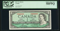 Canadian Currency: , 5000000 Serial Number BC-37c $1 1954 . ...